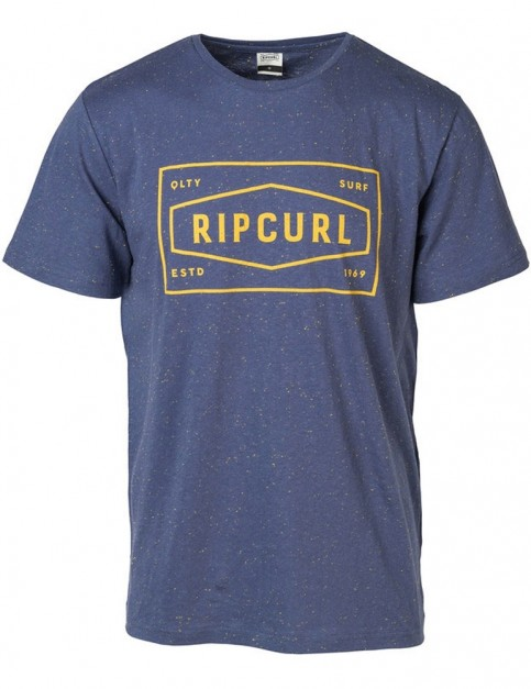 Rip Curl Section Short Sleeve T-Shirt in Blue Indigo Marl