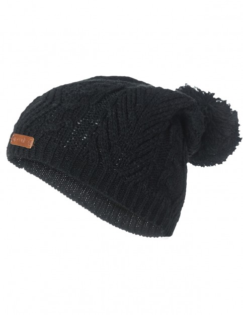 Rip Curl Shelly Beanie Bobble Hat in Black