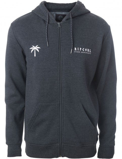 Rip Curl Slam Fleece Zipped Hoody in Dark Marl
