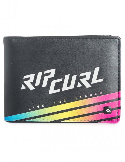 Black Rip Curl Slant Faux Leather Wallet