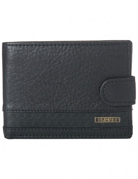 Rip Curl Slaven Clip RFID All Day Leather Wallet in Black