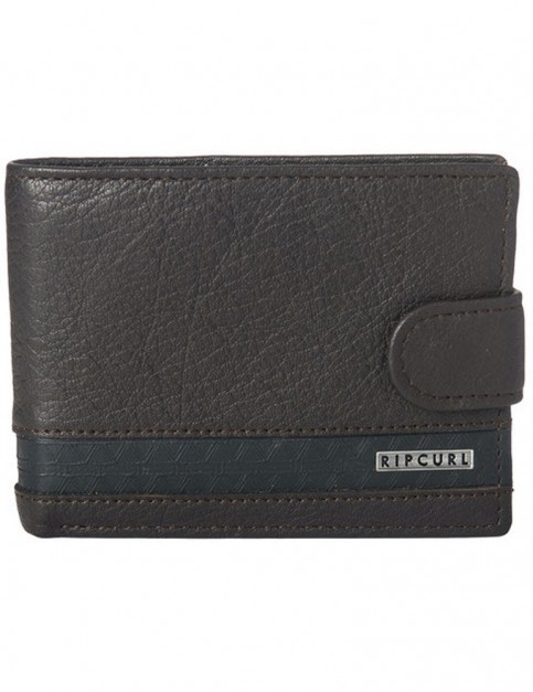 Rip Curl Slaven Clip RFID All Day Leather Wallet in Brown