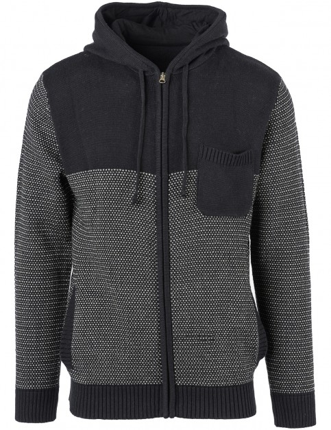 Rip Curl Split Zipped Hoody in Black