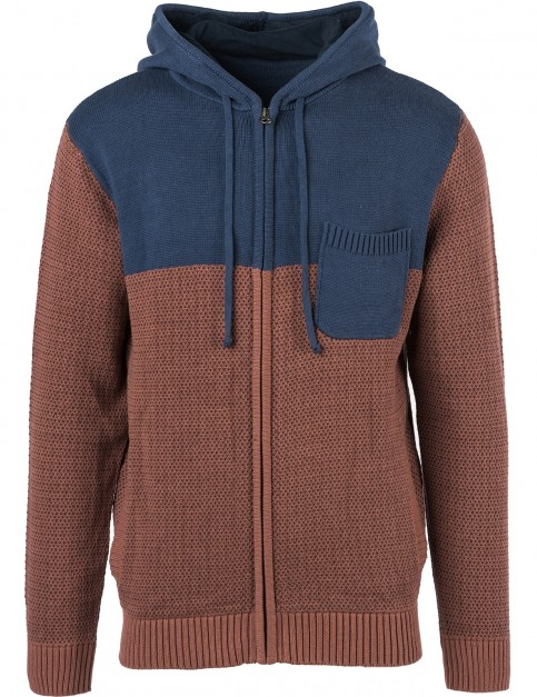 Rip Curl Split Zipped Hoody in Marron