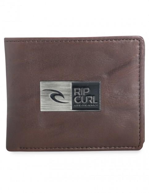Brown Rip Curl Stackawatu Redux 2 In 1 Leather Wallet