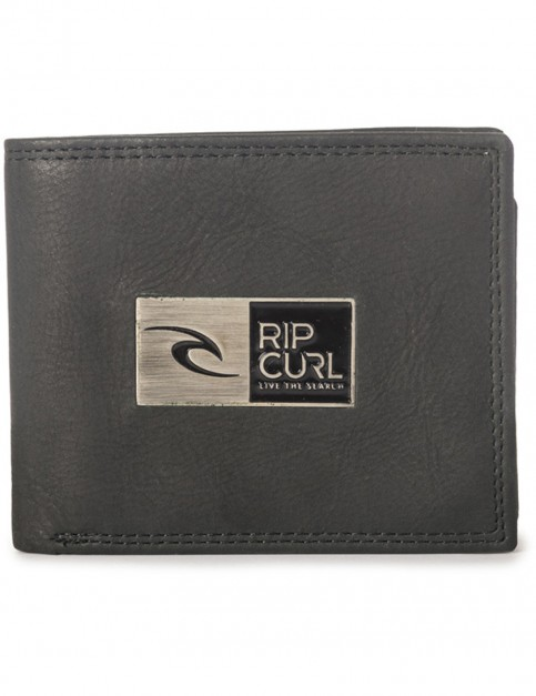 Rip Curl Stackawatu RFID 2 In 1 Leather Wallet in Black