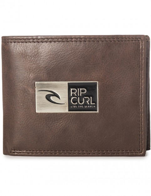 Rip Curl Stackawatu RFID 2 In 1 Leather Wallet in Brown