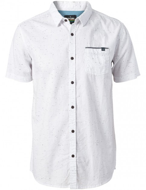 Rip Curl Stardust Short Sleeve Shirt in Optical White