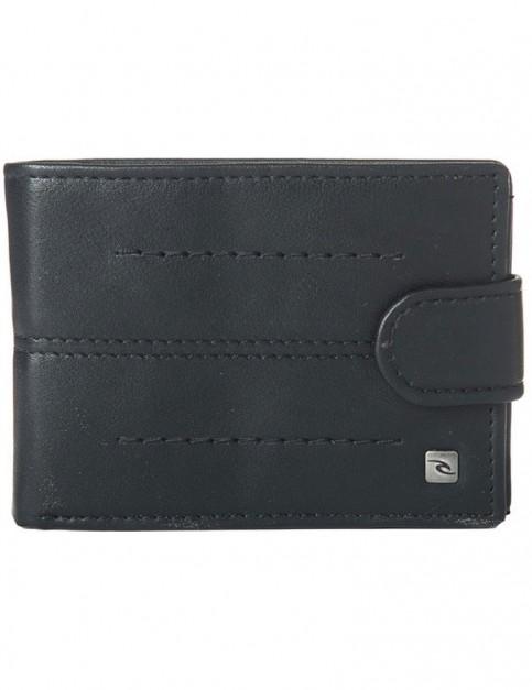 Rip Curl Stitch Clip PU Slim Faux Leather Wallet in Black