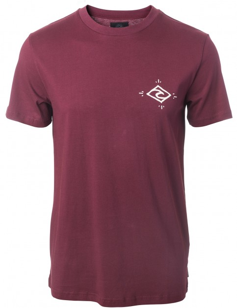 Rip Curl Stoke Merchants Arty Short Sleeve T-Shirt in Tawny Port