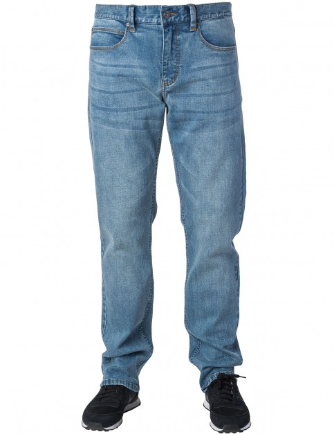 Rip Curl Straight Salt Blue Straight Fit Jeans in Salt Blue