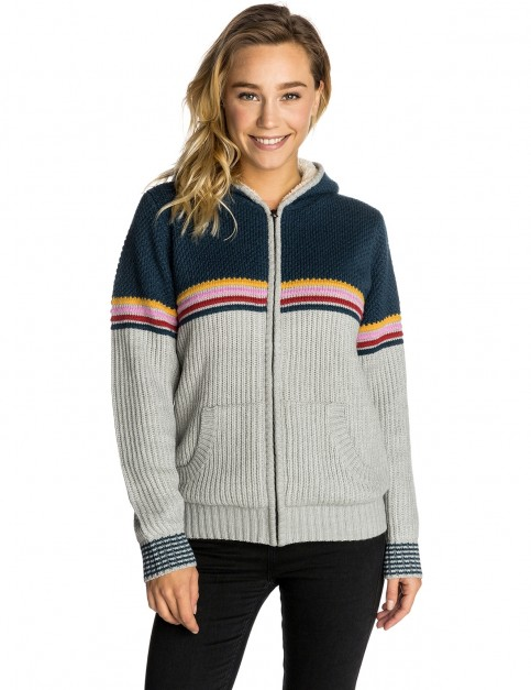 Rip Curl Sunrise Zip Thru Lined Jumper in Cement Marle