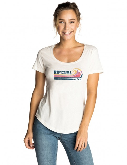Rip Curl Surf Co Short Sleeve T-Shirt in Sea Salt