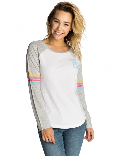 Rip Curl Surf Racer Long Sleeve T-Shirt in White
