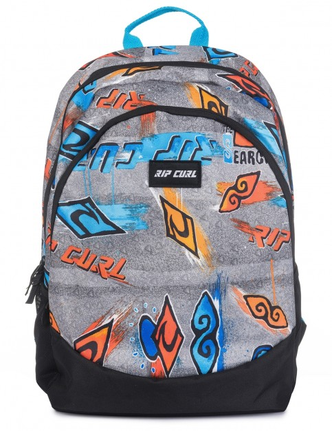 Rip Curl Tri School Brush Stokes Backpack in Blue