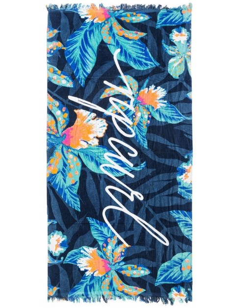 Rip Curl Tropic Tri Beach Towel in Navy