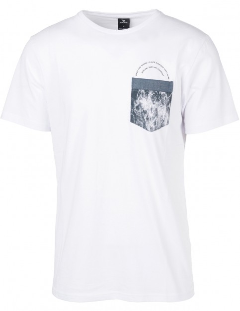 Rip Curl Ult Pocket Short Sleeve T-Shirt in Optical White