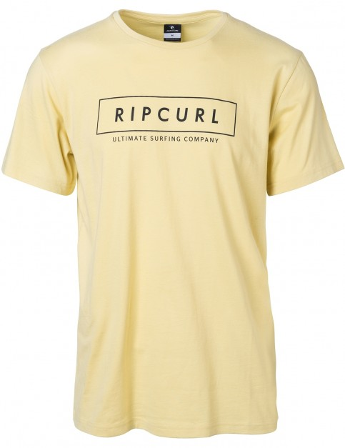 Rip Curl Undertow Logo Short Sleeve T-Shirt in Dusty Yellow