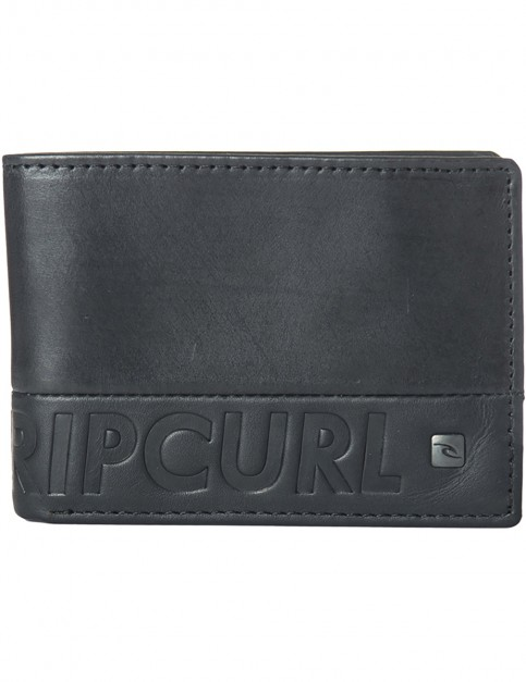 Rip Curl Undertow RFID Slim Leather Wallet in Black