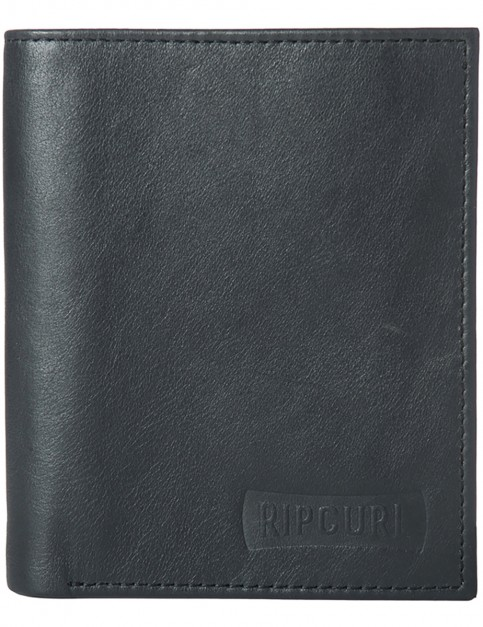 Rip Curl Vertical Eu All Day Leather Wallet in Black