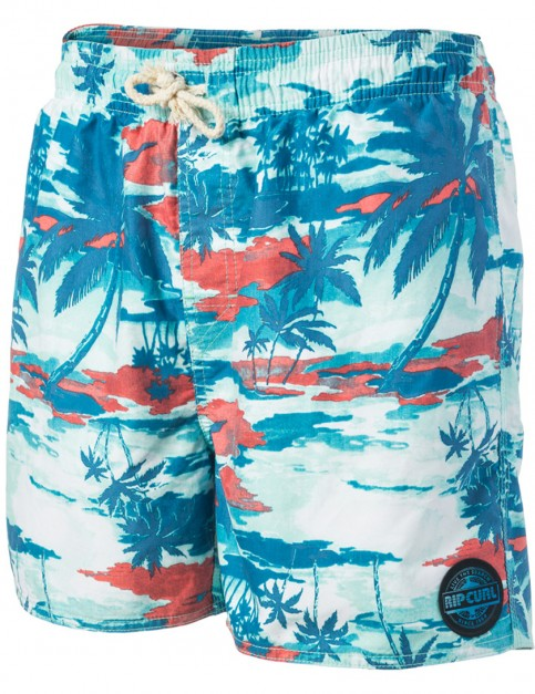 Rip Curl Volley Plants Short Boardshorts in True Blue