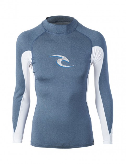 Rip Curl Wave Long Sleeve Rash Vest in Navy