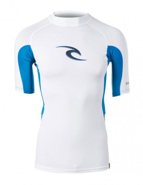 Rip Curl Wave Short Sleeve Rash Vest in White