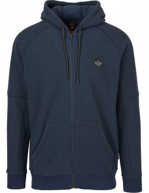 Rip Curl Wetland Anti-Series Full Zip Fleece in Midnight Navy M