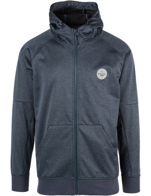 Rip Curl Wetland Anti-Series Full Zip Fleece in Pewter Grey Mar