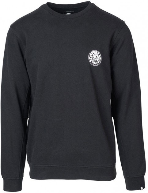 Rip Curl Wettie Crew Sweatshirt in Black