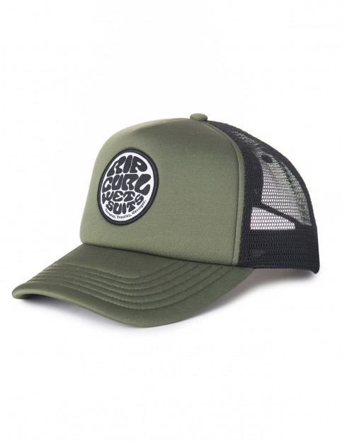 Rip Curl Wetty Curved Trucker Cap in Charcoal