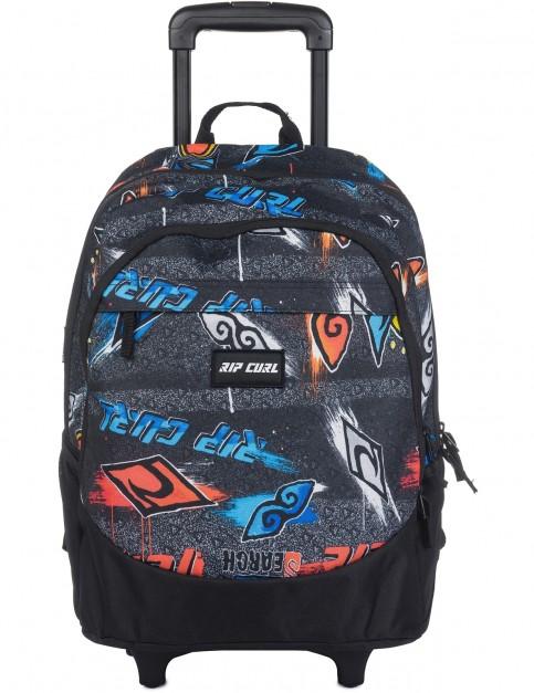 Rip Curl Wheeled Proschool Brush Stokes Messenger Bag in Black
