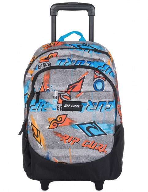 Rip Curl Wheeled Proschool Brush Stokes Messenger Bag in Blue