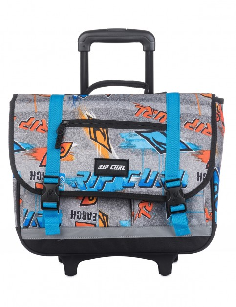 Rip Curl Wheeled Satchel Brush Stokes Messenger Bag in Blue