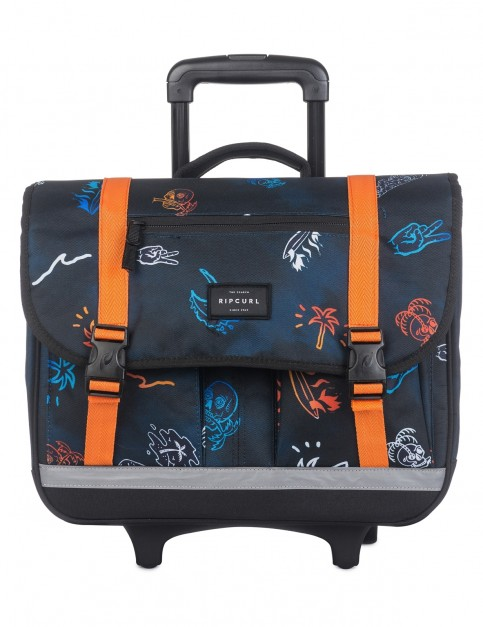 Rip Curl Wheeled Satchel Tropicana Messenger Bag in Navy