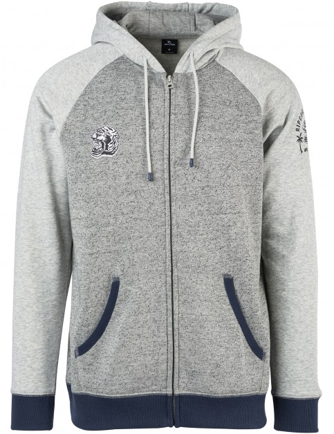 Rip Curl Wild Beast Zipped Hoody in Cement Marle