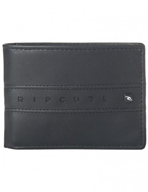 Rip Curl Word Boss PU All Day Faux Leather Wallet in Black