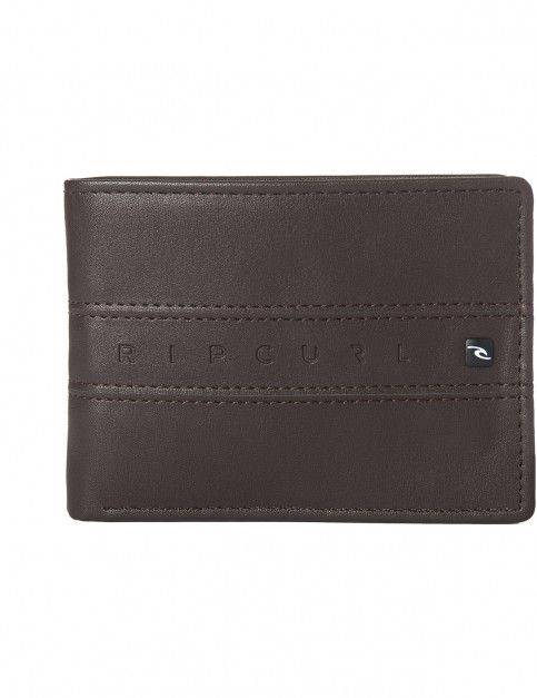 Rip Curl Word Boss PU All Day Faux Leather Wallet in Brown