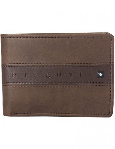 Rip Curl Word Boss Pu All Day Faux Leather Wallet in Tan