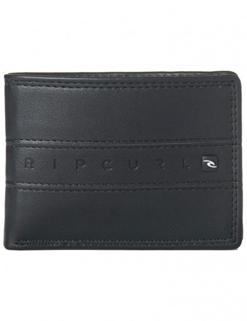 Rip Curl Word Boss PU Slim Faux Leather Wallet in Black