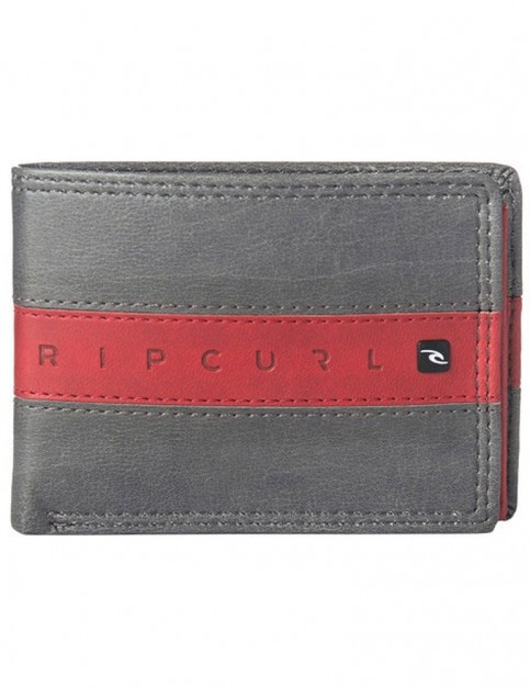 Rip Curl Word Boss PU Slim Faux Leather Wallet in Grey