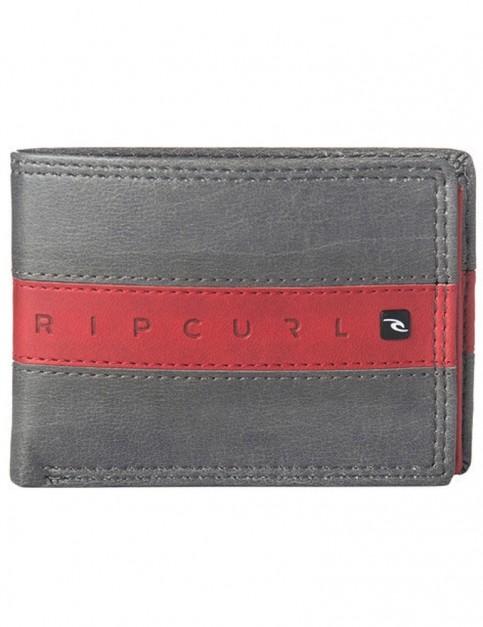 Rip Curl Word Boss PU Slim Faux Leather Wallet in Grey