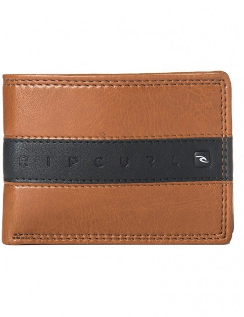 Rip Curl Word Boss PU Slim Faux Leather Wallet in Tan