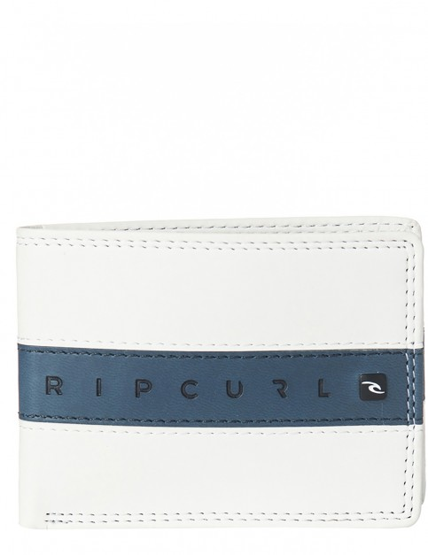 Rip Curl Word Boss PU Slim Faux Leather Wallet in White