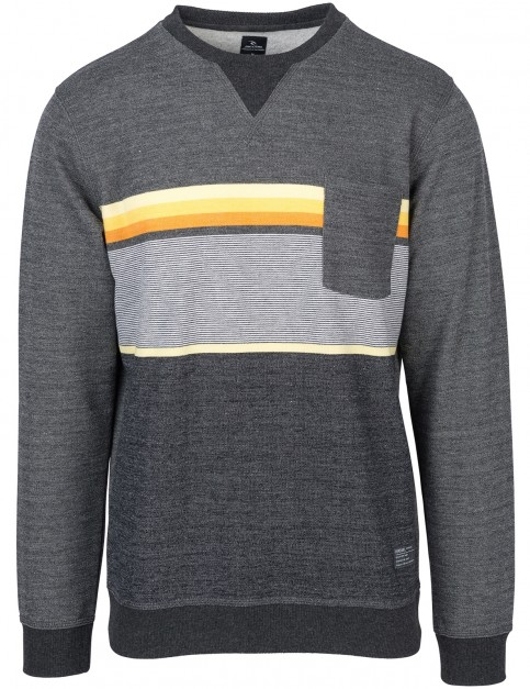 Rip Curl Yarn Dyed Stripe Crew Sweatshirt in Dark Marle