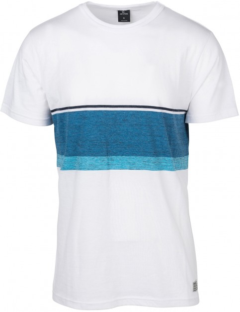 Rip Curl Yarn Dyed Stripe Men Short Sleeve T-Shirt in Optical White