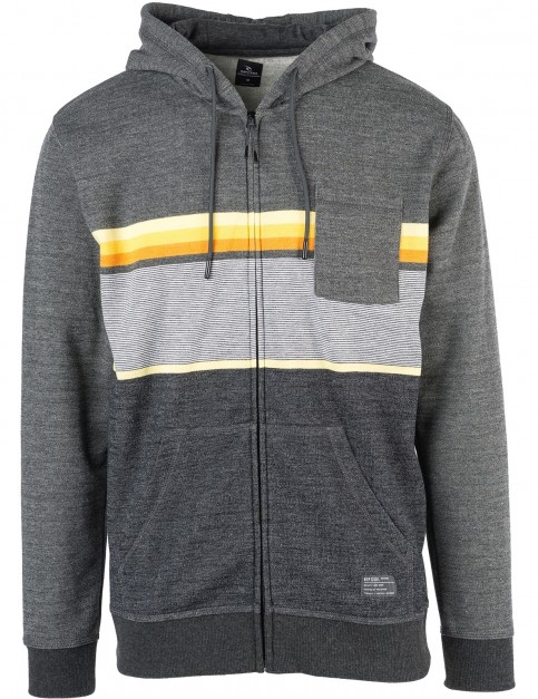 Rip Curl Yarn Dyed Stripe Zipped Hoody in Dark Marle