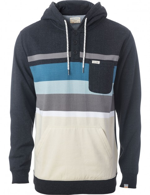 Rip Curl Yarny Fleece Pullover Hoody in Dark Marl