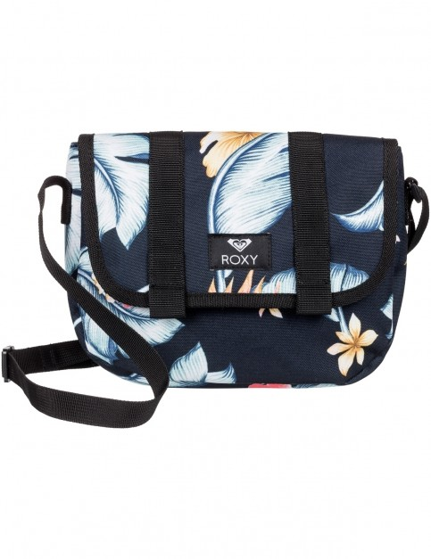 Roxy Back On You Cross Body Bag in Anthracite Tropical Love
