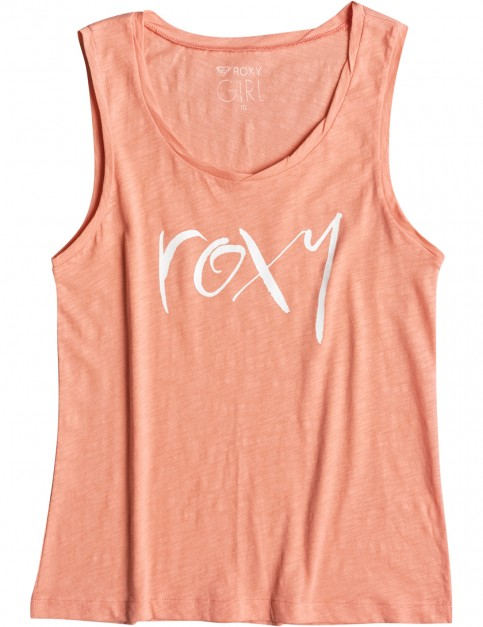 Roxy Billy Twist Straight Up Sleeveless T-Shirt in Georgia Peach